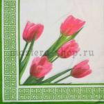 Салфетка Тюльпаны на белом