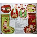 Принт для пошива рождественского сапога, слюнявчиков и игрушки