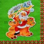 Салфетка Санта на олене
