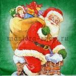 Салфетка Санта на трубе