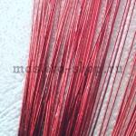 Проволока для цветов из капрона: 0,7 мм (№22). Красная