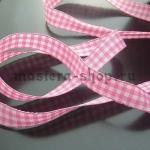Клетчатая лента Розовая