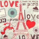 Салфетка Love in Paris
