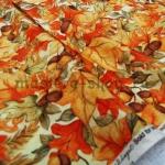 Ткань для печворка и рукоделия: Желуди и листья