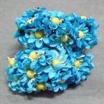 Бумажные цветочки. Мини цветочки. Голубые 3,5 см