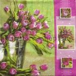 Салфетка Тюльпаны в ведре