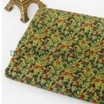 Ткань для печворка и рукоделия Омела мелкая с золотом