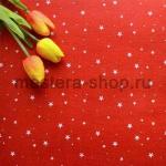 Фетр со звездами. Красный