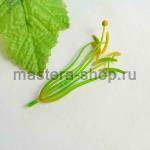 Тычинки и пестик лилии. 12 см. Зеленые с желтым