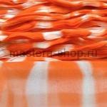 Капрон для цветов Темно оранжевый Белый