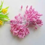 Тычинки зернистые розовые (4 мм)
