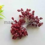 Тычинки зернистые темно-красные (4 мм)