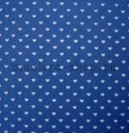 Фетр с сердечками. Синий