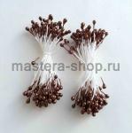 Тычинки средние темный шоколад (2-3 мм)