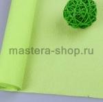 Гофрированная флористическая бумага Зеленая светлая