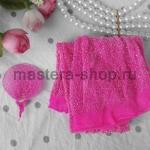 Капрон для цветов Розовый с серебром