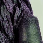 Капрон для цветов Черный с фиолетовым люрексом