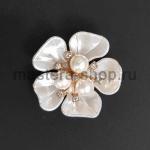 Серединка для бантика Пятилепестковый цветок с Тройкой 1 шт.