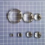 Стеклянные капли (марблс) прозрачные. Круглые. 6 мм. 10 шт.