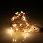 Светодиодная гирлянда Нить (Роса) 2 м-20 диодов. Теплый свет