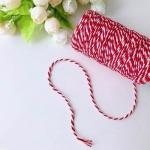 Шнур упаковочный красно-белый хлопковый