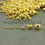 Бусина. Золото. 8 мм. 10 шт.