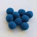 Помпоны 15 мм. Синие темные. 5 шт.