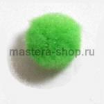 Помпоны 18-20 мм. Зеленые светлые. 5 шт.