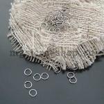 Кольцо одинарное разъемное серебро 5 мм - 20 шт