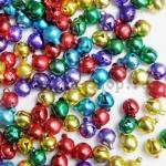Бубенчики цветные глянцевые 5 шт