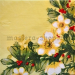Салфетка Цветы и омела