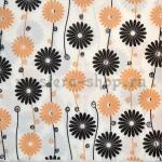 Салфетка Бежевые и черные цветы