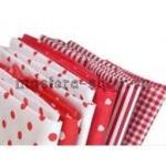 Набор тканей для пэчворка и рукоделия Темно-розовые - 6 отрезов