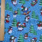 Ткань для печворка и рукоделия Снеговики и елки