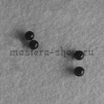 Бусины черные для глазок (носиков) 5 мм. 20 шт.