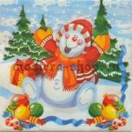 Салфетка Веселый снеговик
