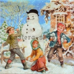 Салфетка Ретро Снежки
