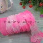 Капрон для цветов Розовый сочный +Белый
