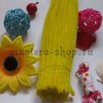 Пушистая проволока шенил (синель)  Желтая