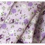 Ткань для печворка и рукоделия Мелкие цветочки. Сиреневая
