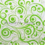 Салфетка Зеленые завитушки
