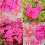 Салфетка Розовые цветы
