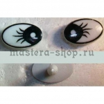 Глаза винтовые овальные 13.5*9.5 мм (пара)