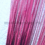 Проволока для цветов из капрона: 0,55 мм (№24). Малиновый
