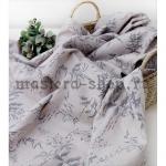 Ткань для печворка и рукоделия. Лен. Винтажные травы