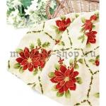 Ткань для печворка и рукоделия Пуансетия в квадратах
