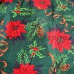 Ткань для печворка и рукоделия Большая пуансетия