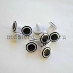 Глаза винтовые 15 мм большой зрачок (пара)
