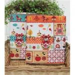 Ткань для печворка и рукоделия Матрешки оранжевые