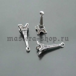 Серебрянная подвеска Эйфелева башня